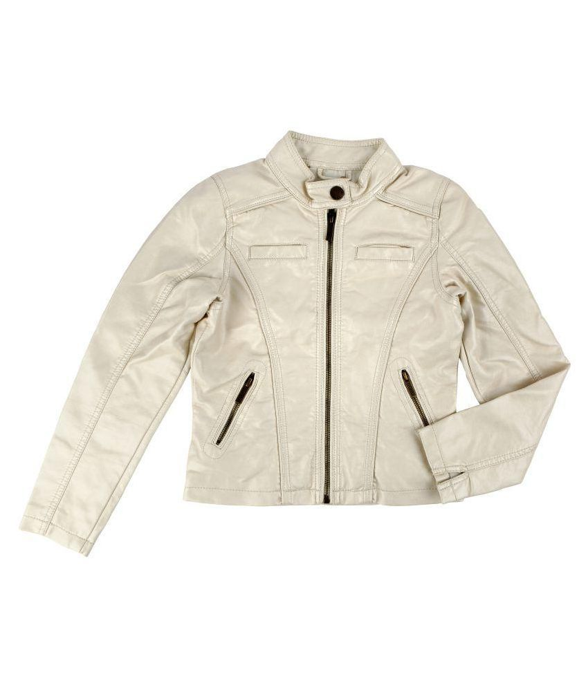 One Friday Off White Leather Jackets
