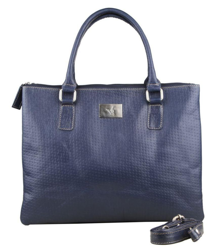 VRSR Blue Pure Leather Handheld