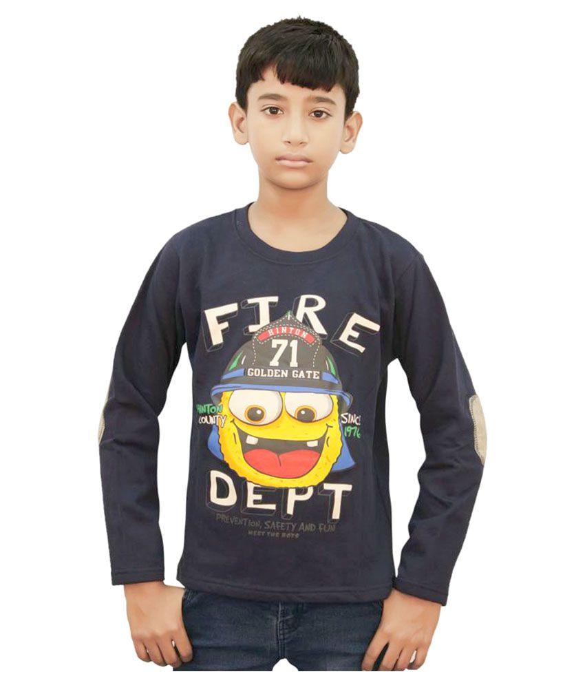 Kothari Navy Blue Full Sleeves Sweatshirt for Boys