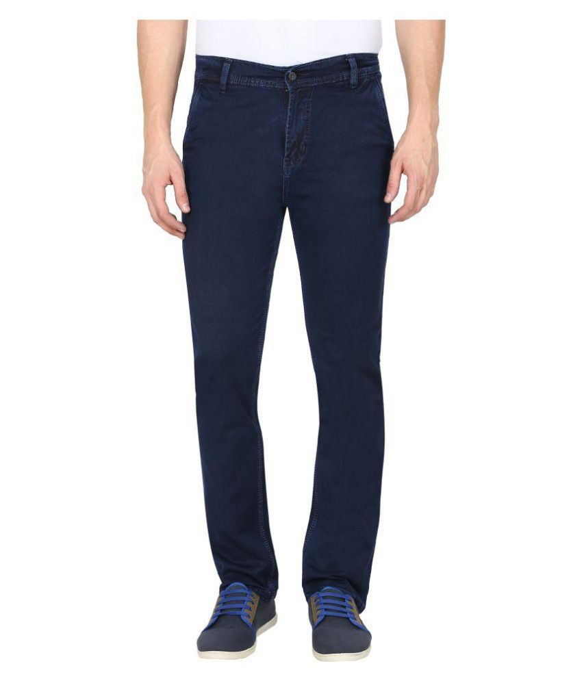 Gradely Indigo Blue Regular Fit Jeans