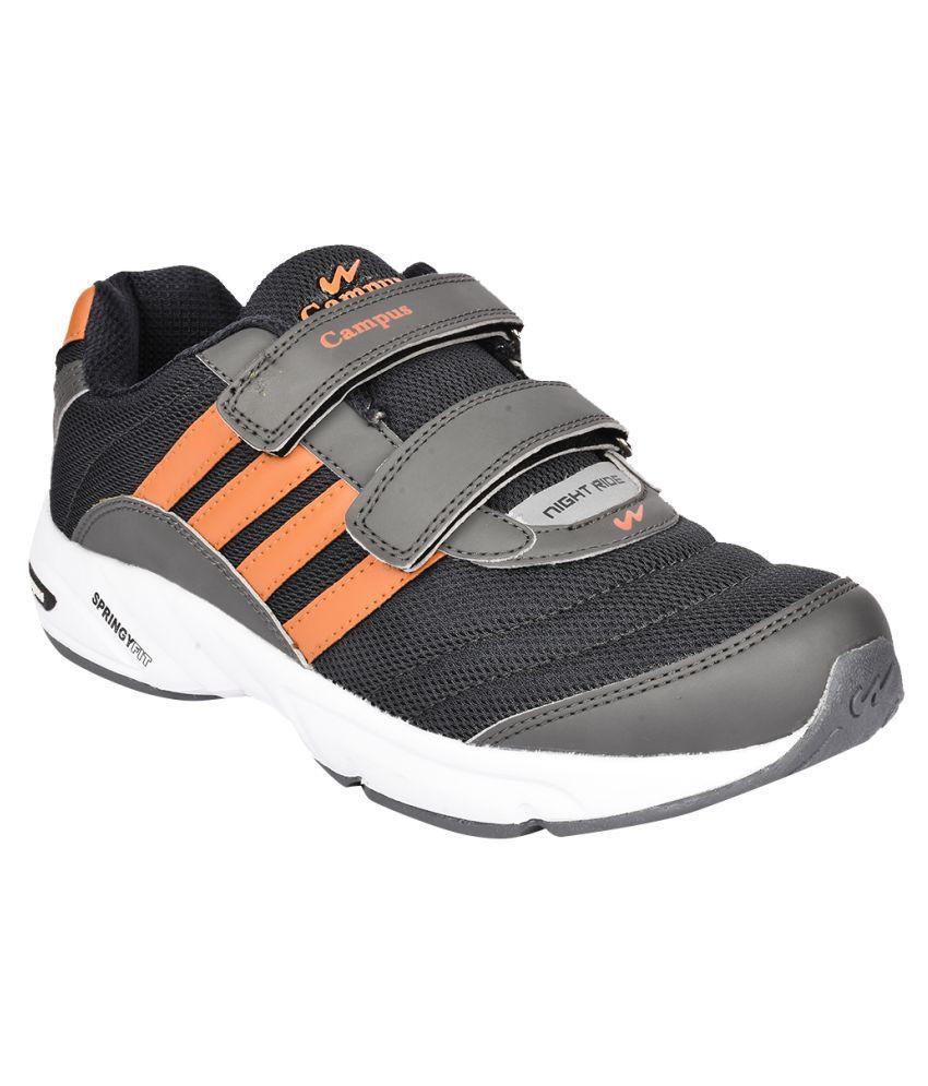 Campus 3G-378-V Black Running Shoes