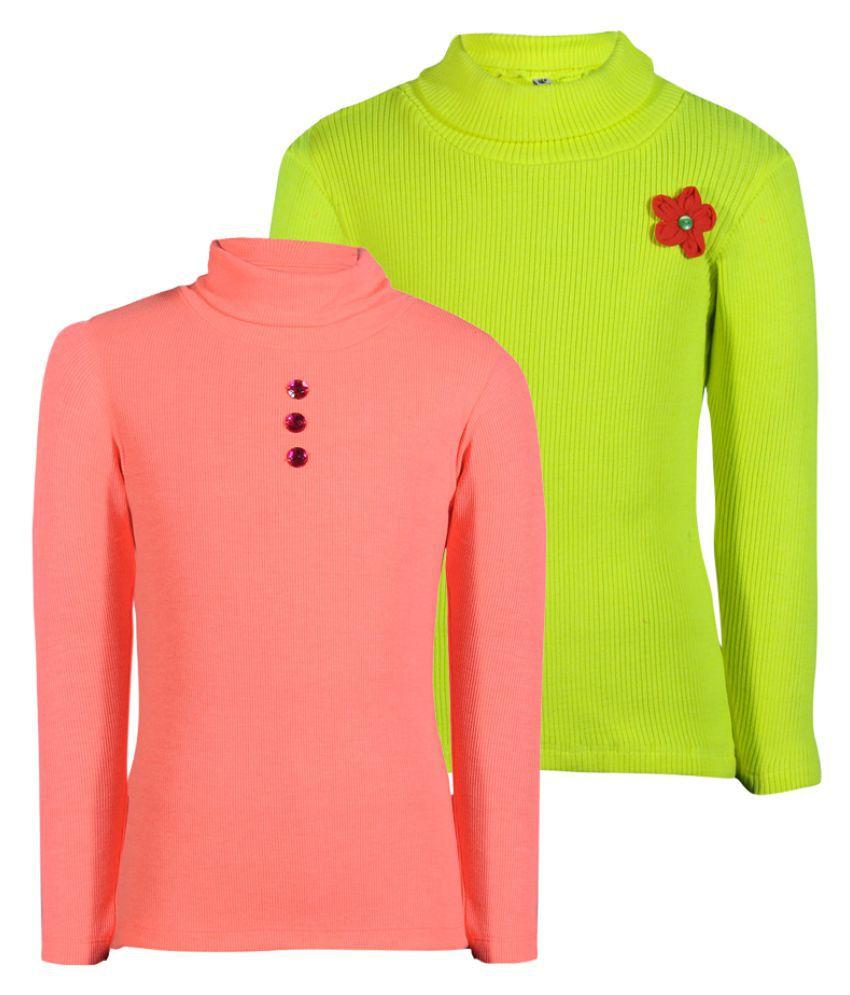 Bio Kid Multi Full Sleeve Combo Girl's Sweatshirt