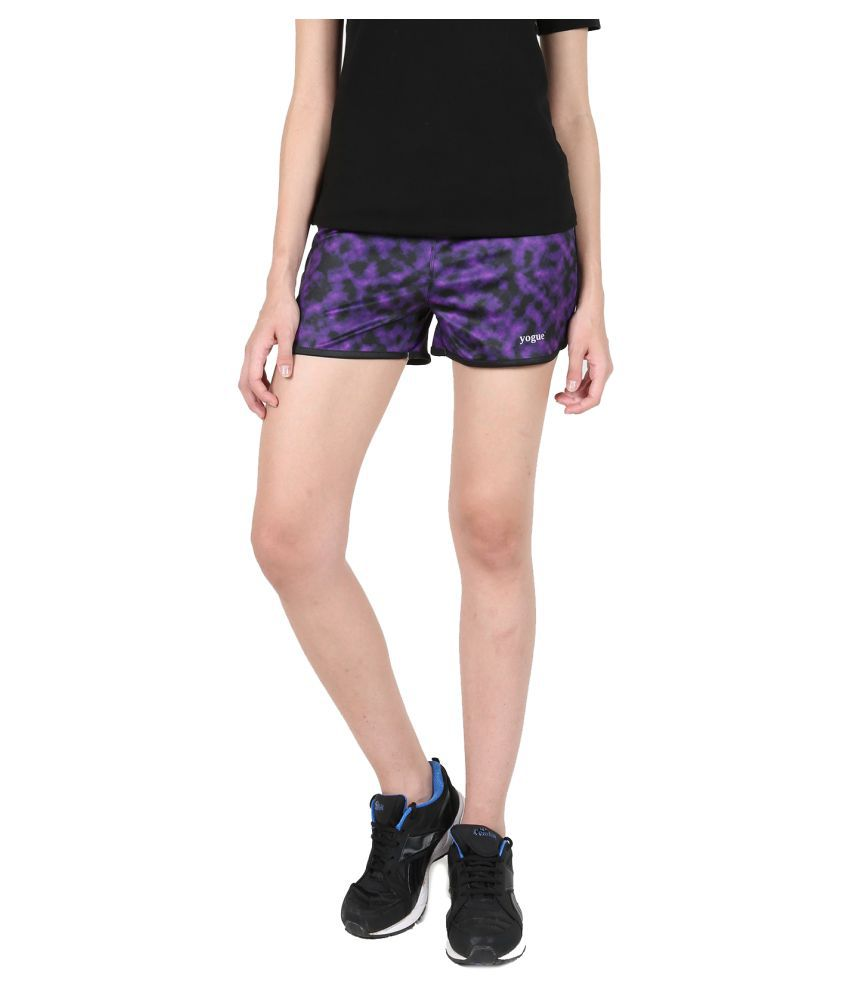 Yogue Black Purple Short