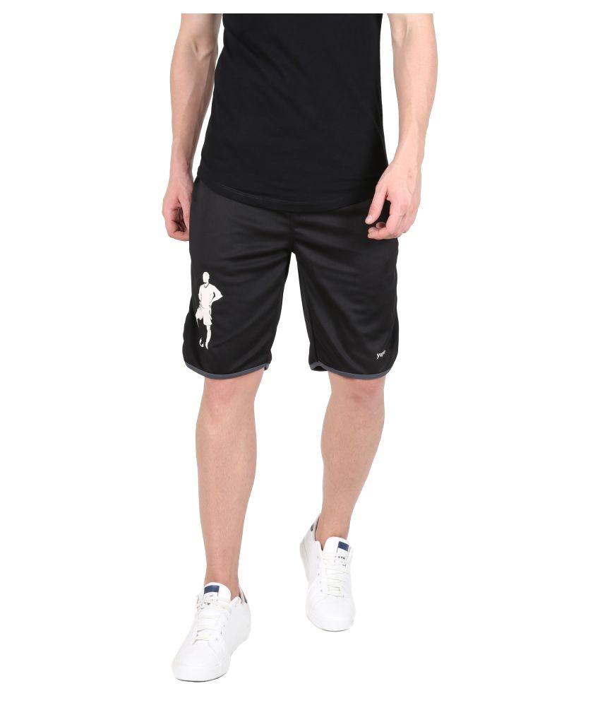 Yogue Black  Shorts