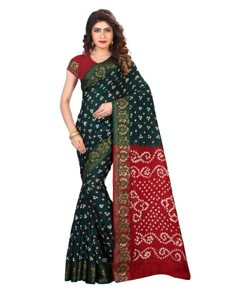 Adorn Fashion Green Cotton Saree
