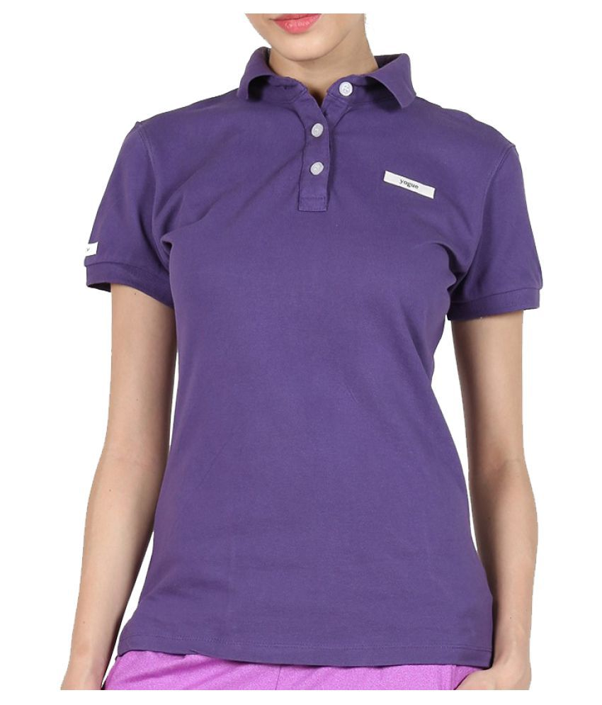 Yogue Purple Polo T-Shirt