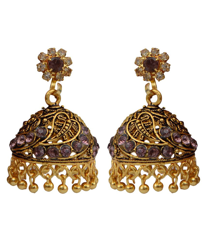 Taj Pearl Multicolor Alloy Jhumki Earrings