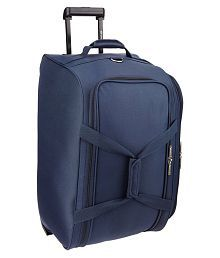 Pronto Blue Solid Duffle Bag with trolley
