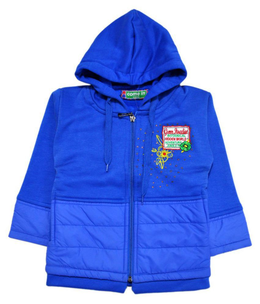 Come In Kids Blue Fleece Sweatshirt