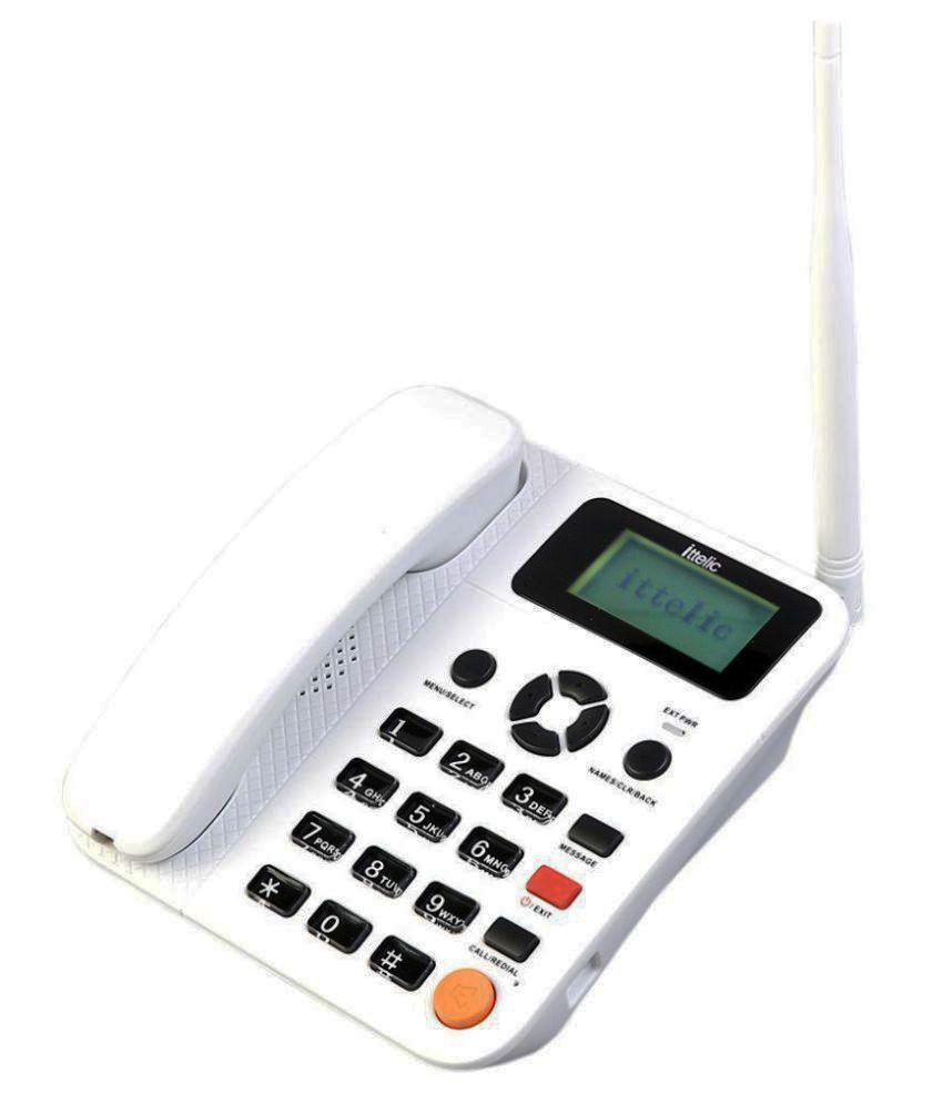 Ittelic APP5623 Wireless GSM Landline Phone ( White ) GSM Dual SIM Phone,  High Network Efficiency