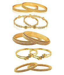 YouBella Jewellery Combo of Five Trendy Traditional Bangles Set For Women and Girls