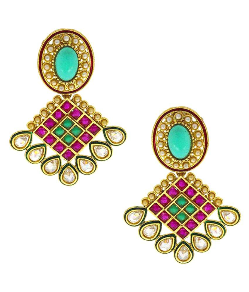 Anuradha Art Golden Finish Designer Classy Traditional Earrings For Women/Girls