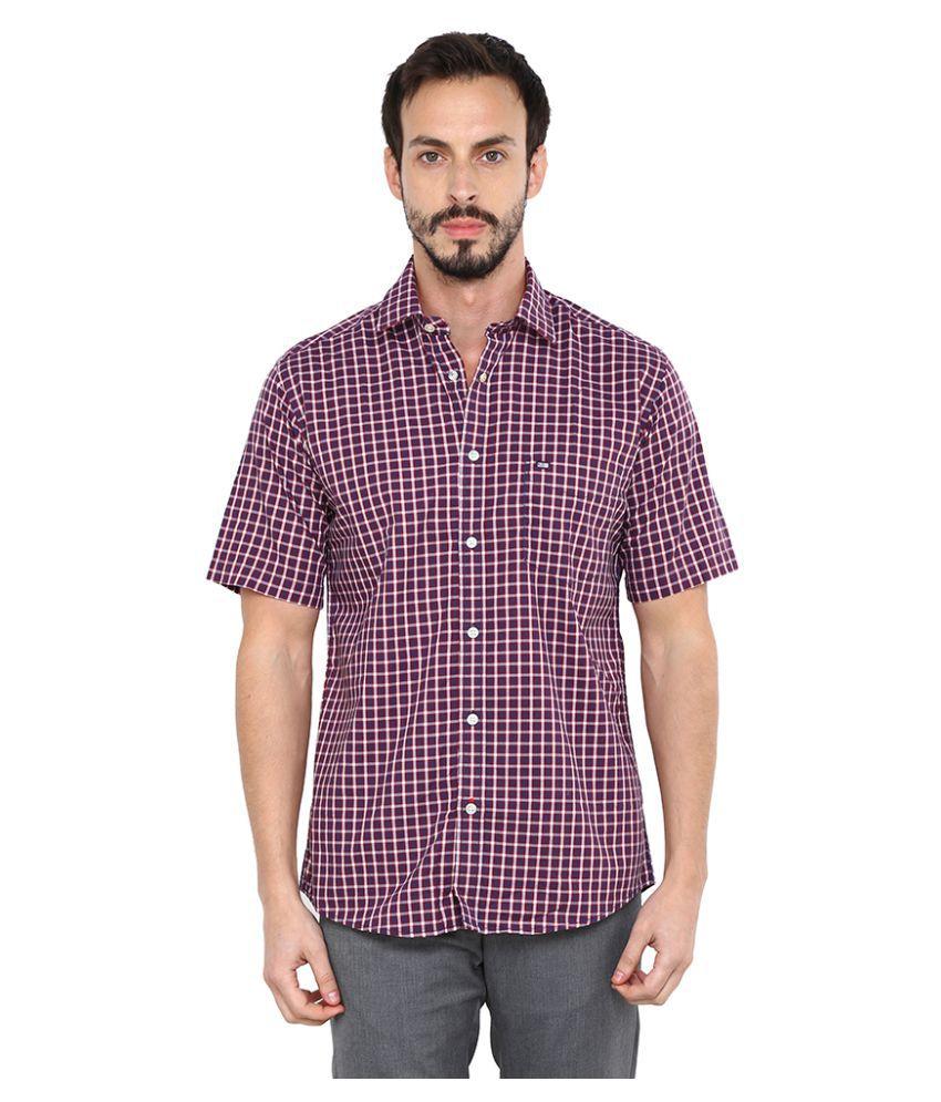 Arrow Sports Maroon Casuals Regular Fit Shirt