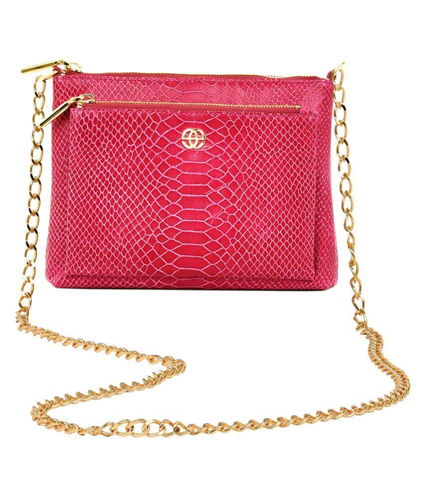 Eske Pink Pure Leather Sling Bag