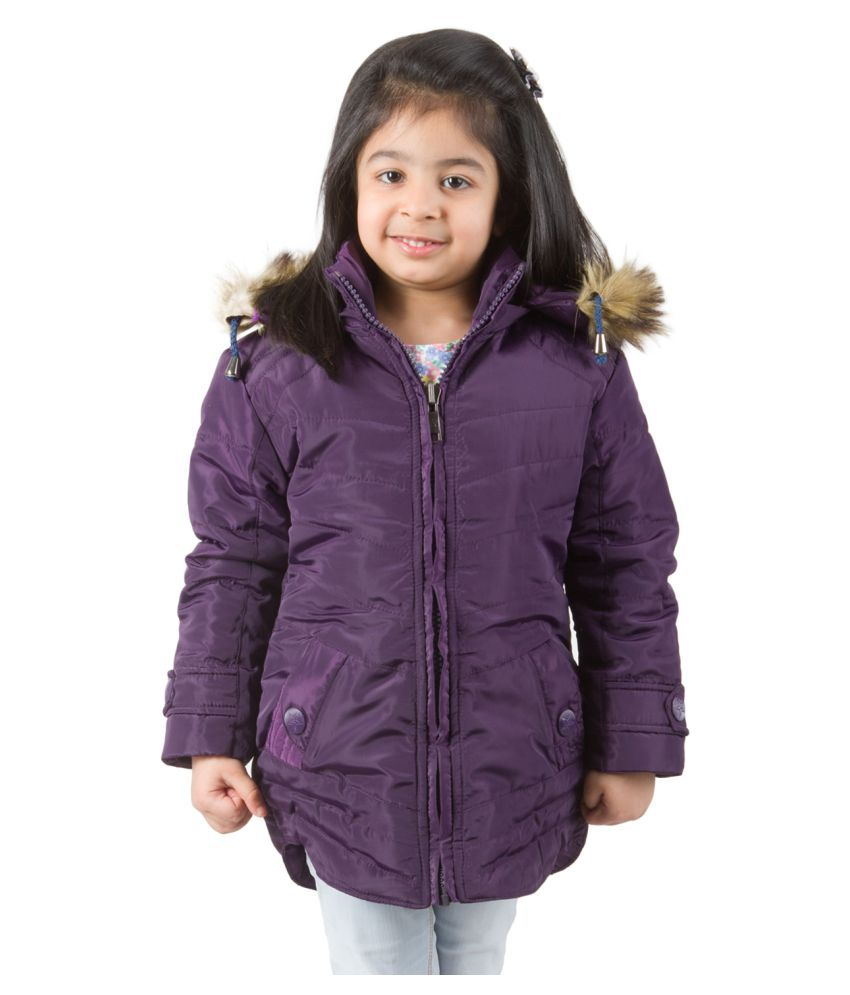 Burdy Purple Hooded Jacket