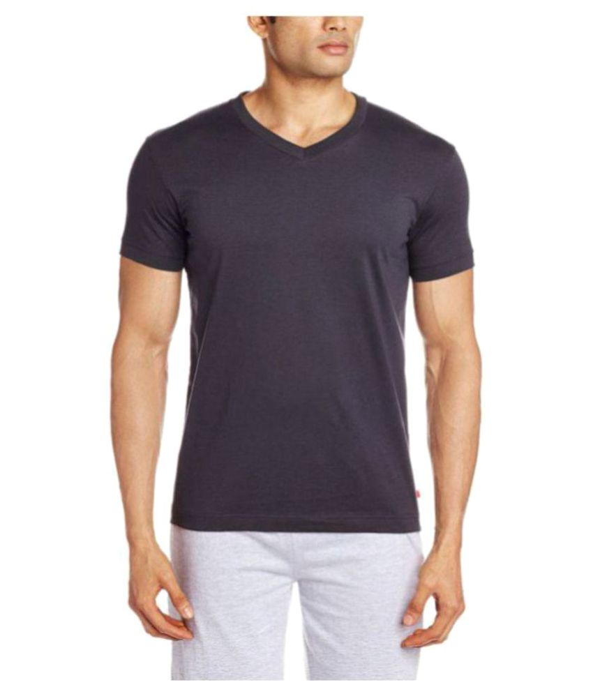 Jockey Black Cotton T-Shirt Single Pack