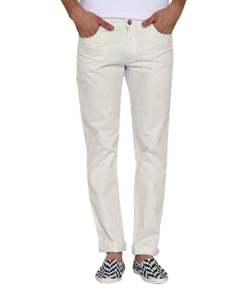 Hubberholme White Slim Jeans