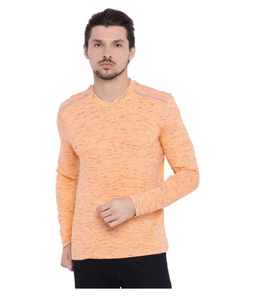 ARISE by beroe Orange V-Neck T-Shirt