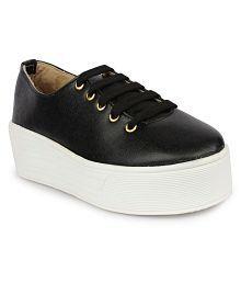 Do Bhai Black Sneakers