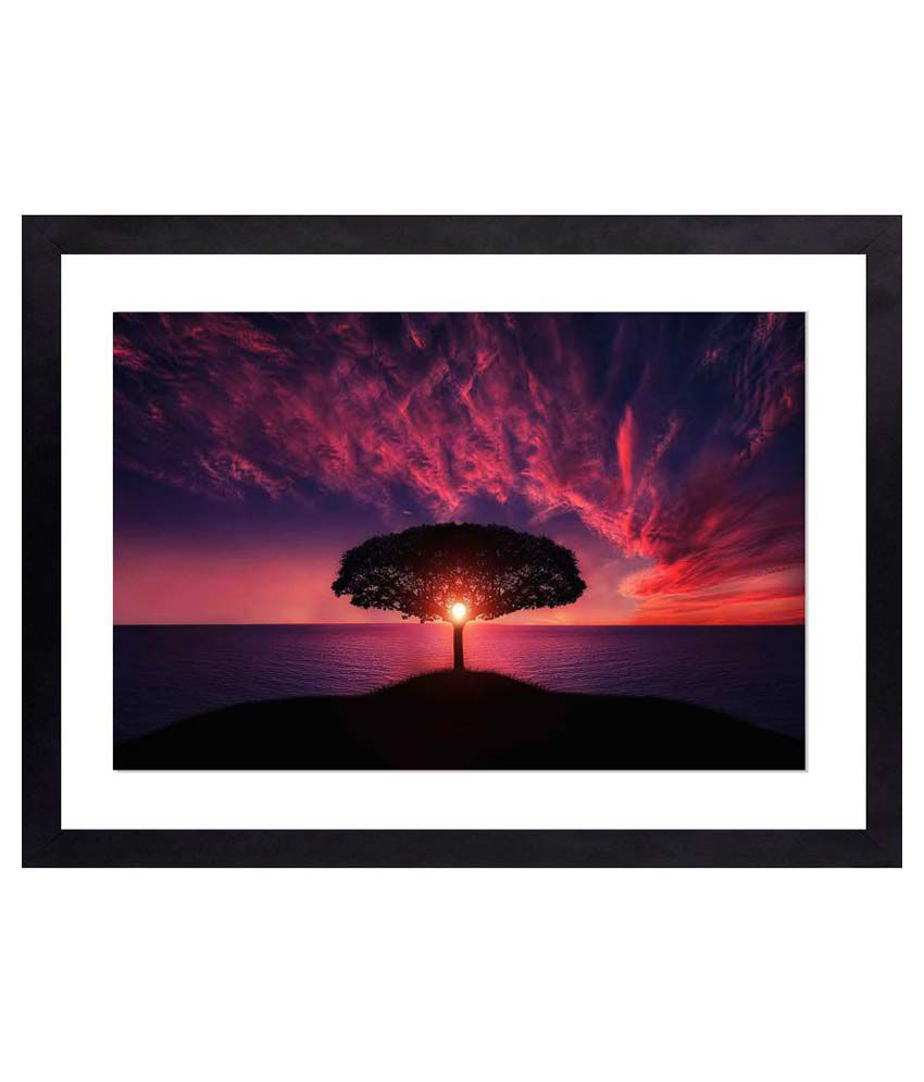 Craftsfest Amazing photography of tree Glass Painting With Frame Single Piece