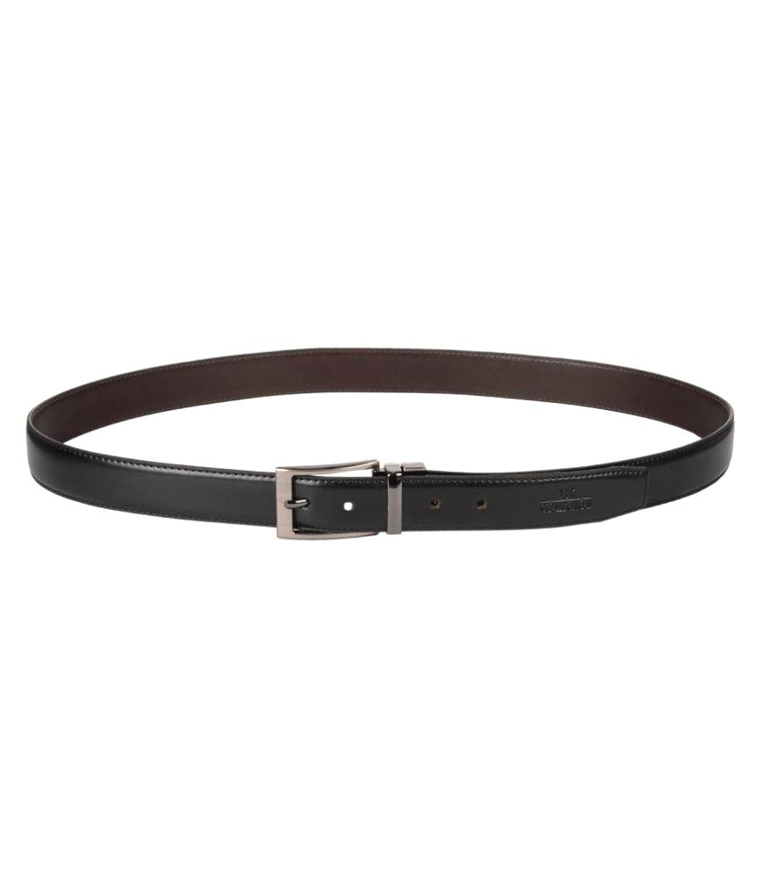 JKC Black Leather Formal Belts