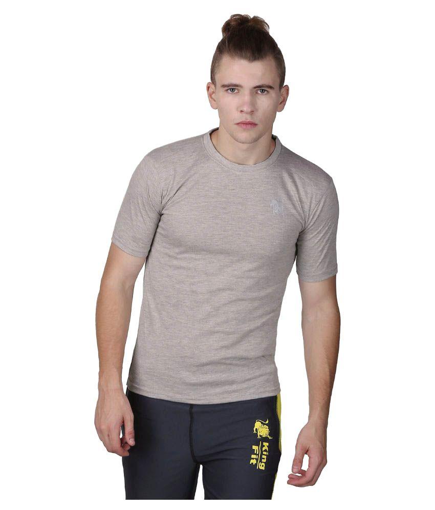 L'appel Du Vide Grey Polyester T-Shirt