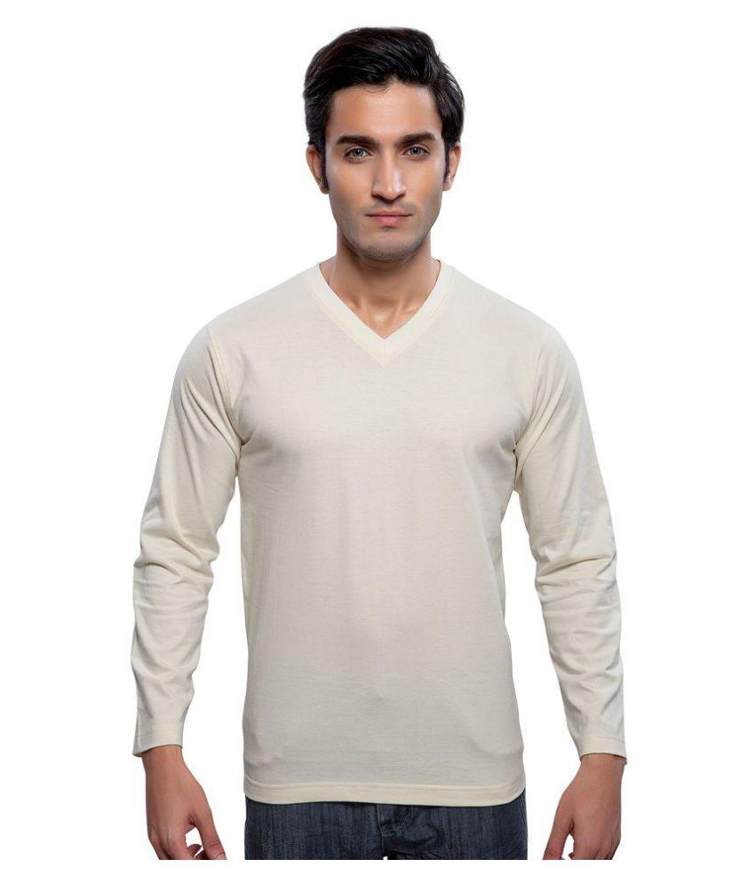 Maa Readymade Suppliers White V-Neck T-Shirt