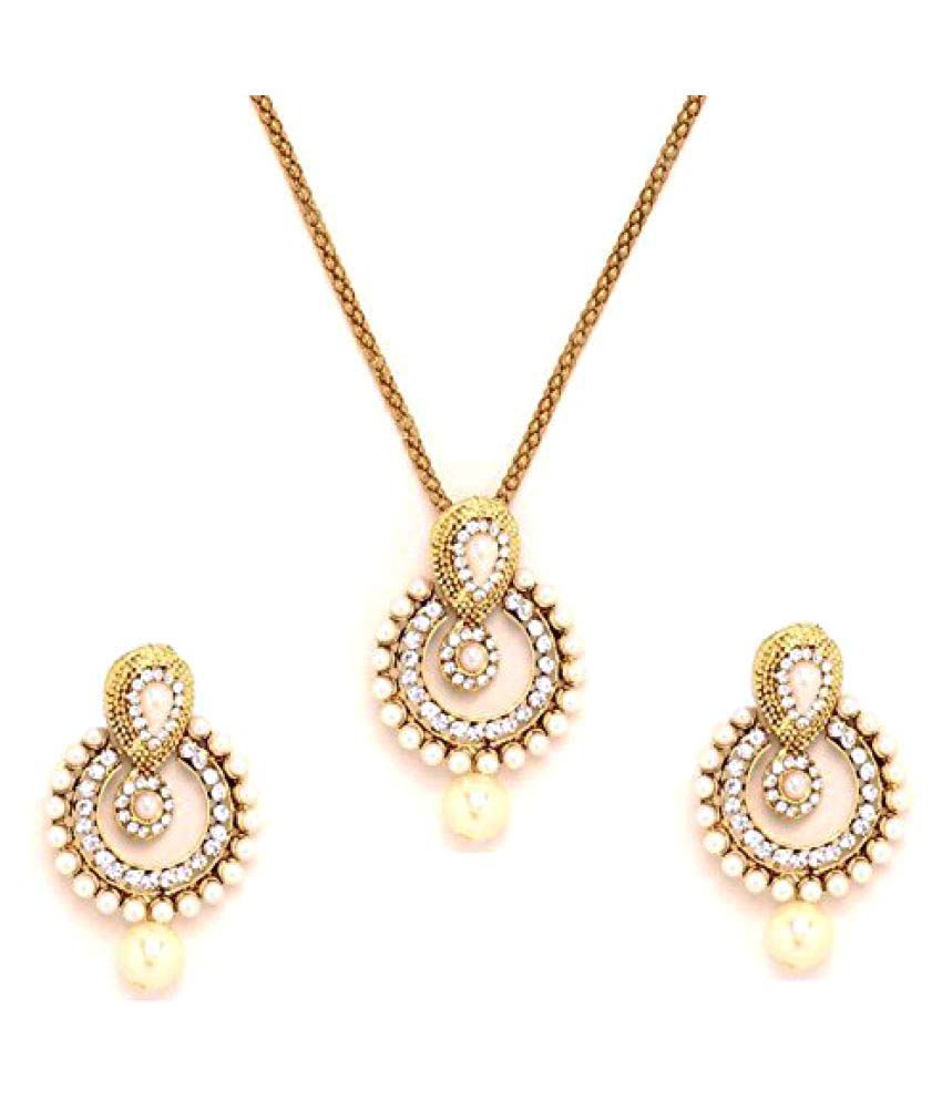 Youbella pearl pendant set jewellery for girls and women buy youbella pearl pendant set jewellery for girls and women aloadofball Gallery