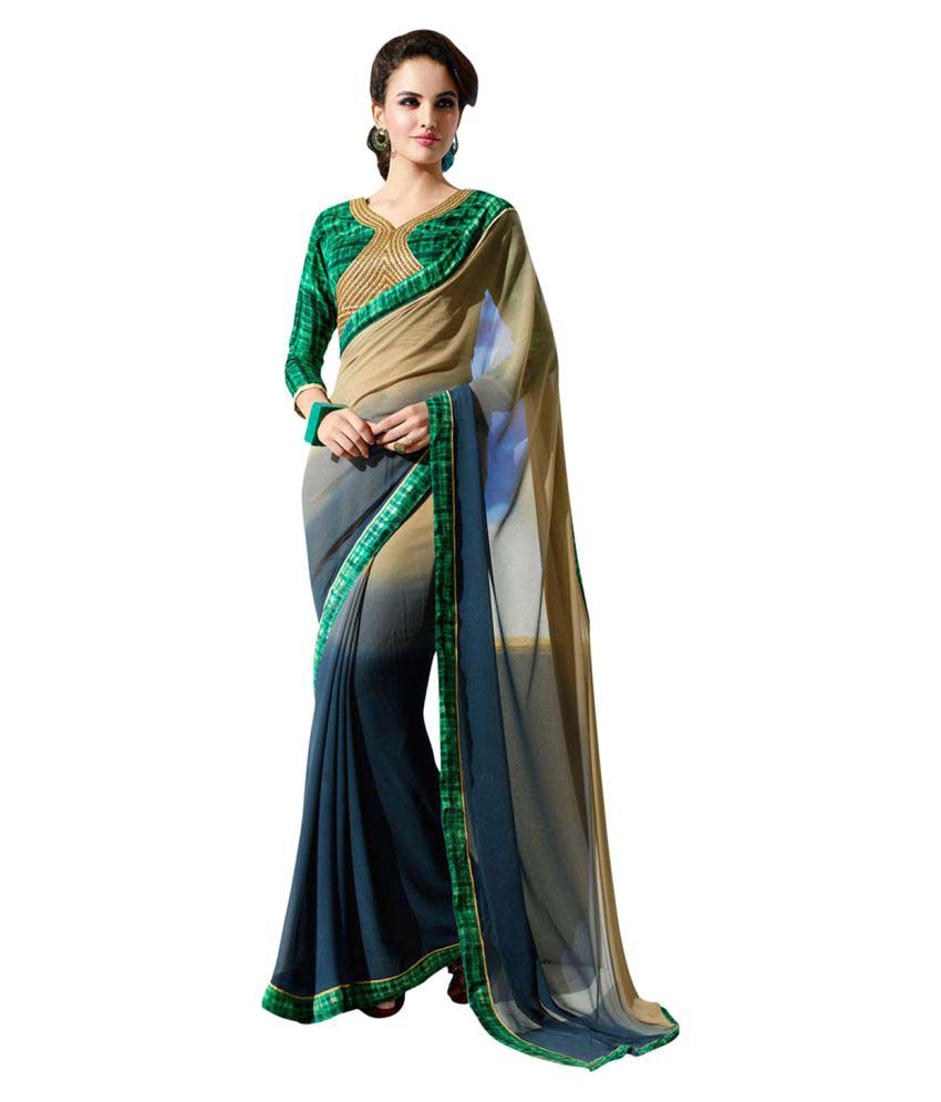 FashionDeal Multicoloured Georgette Saree