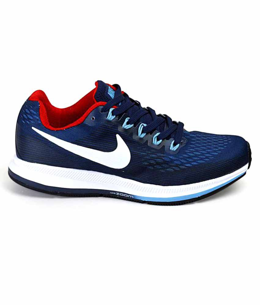cheap for discount cba6f 3845e Nike Air Zoom Pegasus 34 Shoes Navy Blue Training Shoes