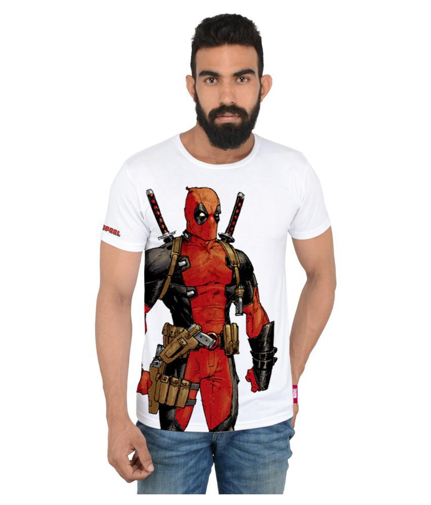 Marvel White Round T-Shirt