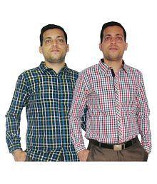 Carmino Casuals Multi Casuals Regular Fit Shirt Pack Of 2