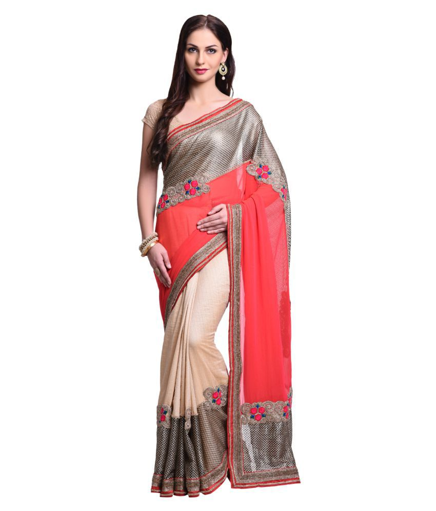 Vastre Multicoloured Georgette Saree