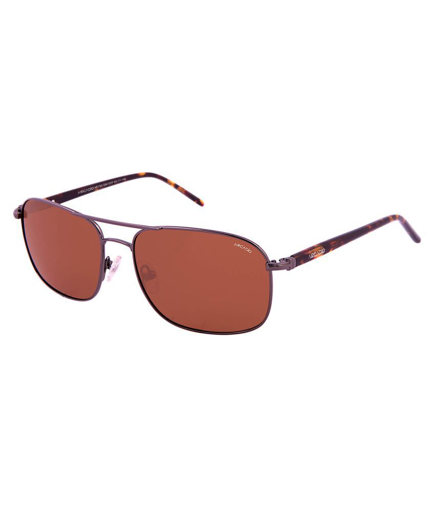 Arcadio Brown Rectangle Sunglasses ( AAR192DM-BRP )