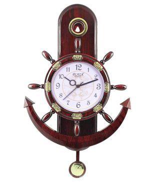 Ravishing Brown Plastic Wall Clock