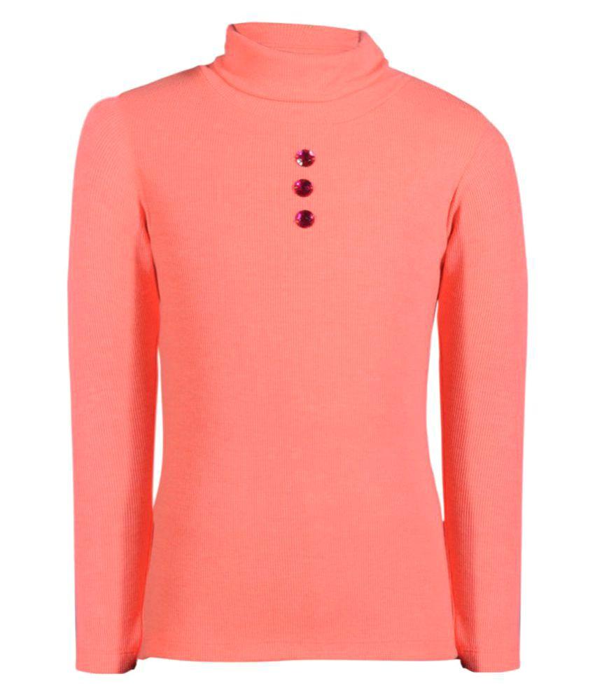Bio Kid Pink Cotton Girl's Sweatshirt