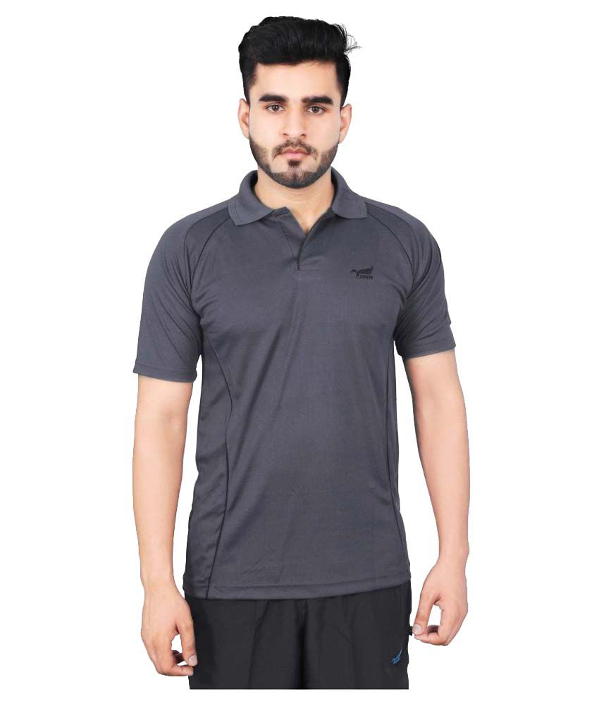 NNN Grey Polyester Polo T-Shirt Single Pack