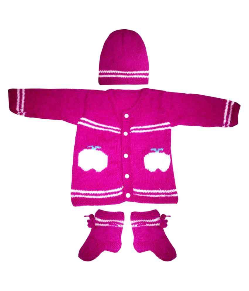 41b5ceb96a1a Dadima Ki Bunai Woolen Sweater Set Purple - Buy Dadima Ki Bunai ...