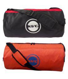 Kvg Multicolour Medium Polyester Gym Bag
