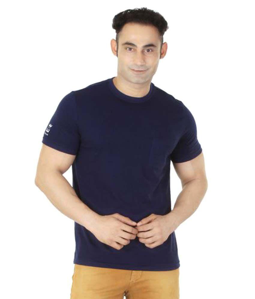 Ishwa Navy Round T-Shirt