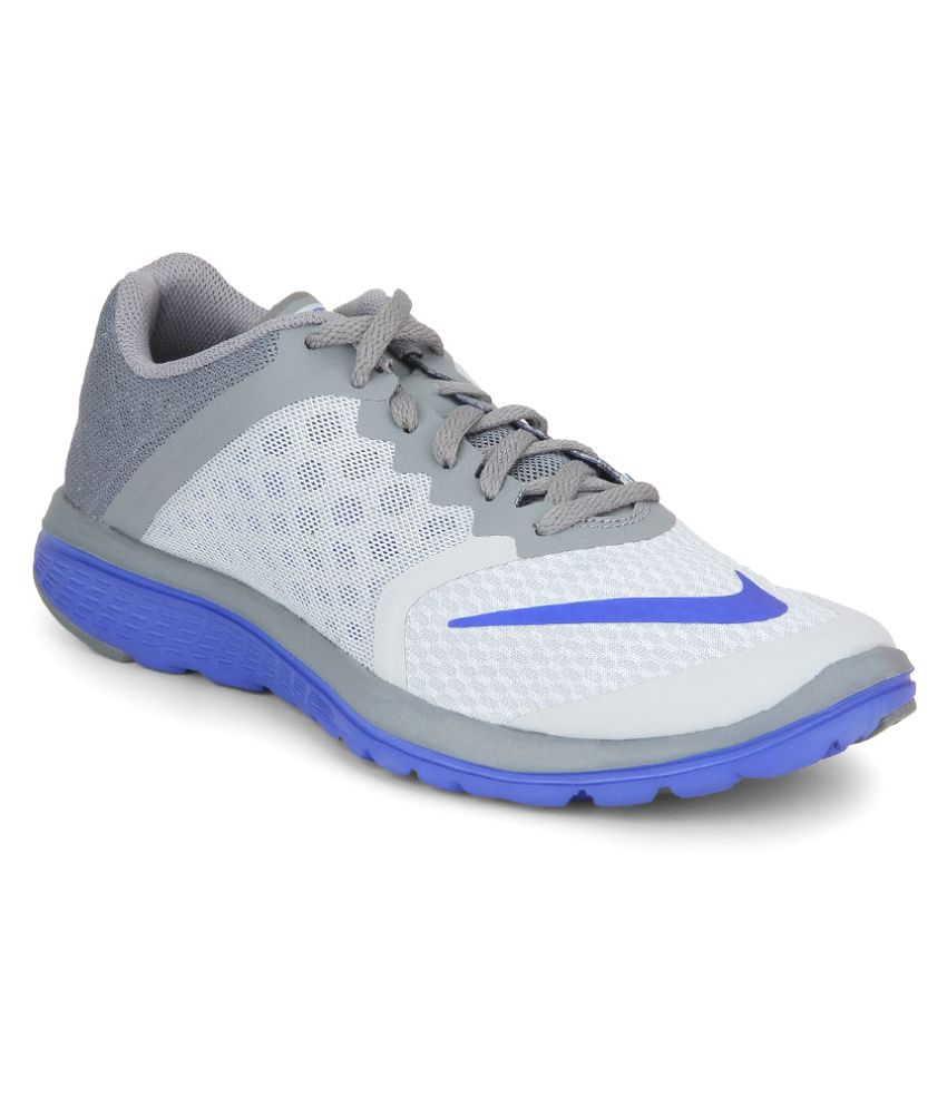 best service aa550 0ce38 Nike Fs Lite Run 3 Gray Running Shoes - Buy Nike Fs Lite Run 3 Gray Running  Shoes Online at Best Prices in India on Snapdeal