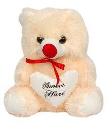Pari Soft Toys Cream Sweet Heart Teddy