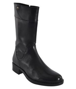 Womens boots buy womens boots online at best prices in india salt n pepper black mid calf riding boots solutioingenieria Choice Image