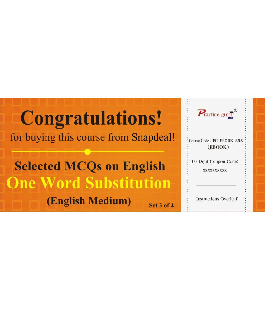 Selected Mcqs On English One Word Substitution Set 3 Of 4 License
