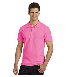 Gildan Pink Regular Fit Polo T Shirt - 633648141732