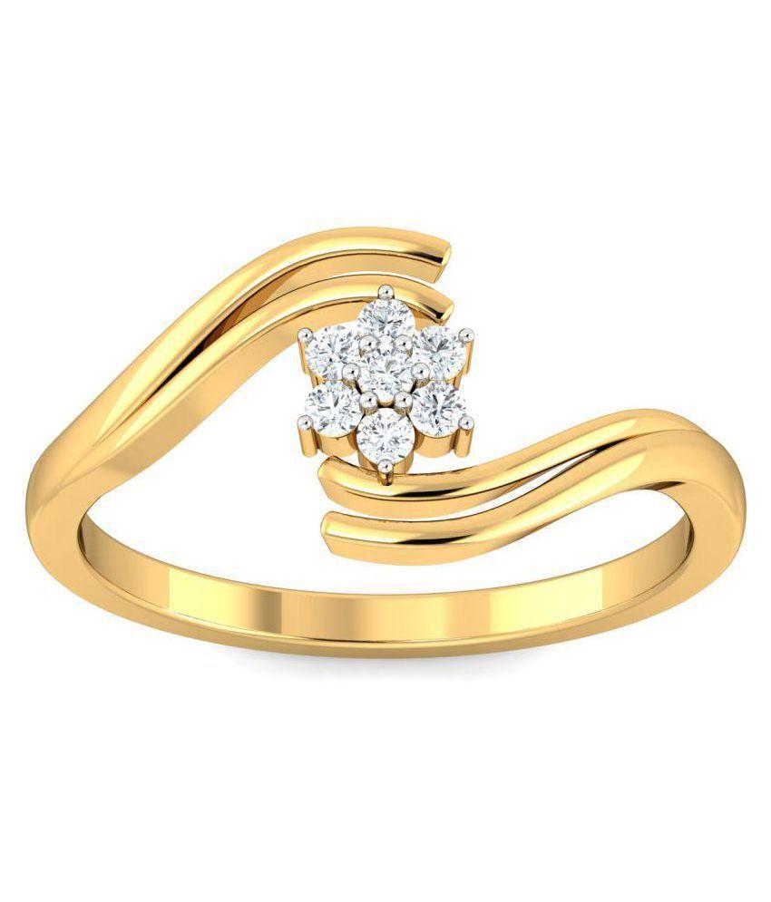 Khanna Jewels 18k Yellow Gold Ring