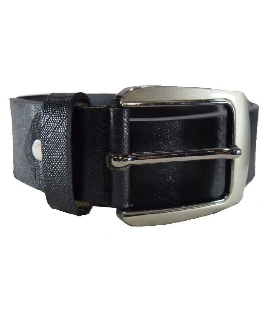 Tanned Hides Black Leather Formal Belts