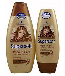Schwarzkopf Imported Supersoft Repair & Care Silicone Free For Dry & Damaged Hair Shampoo 400 Ml & Conditioner 250 Ml Combo Pack