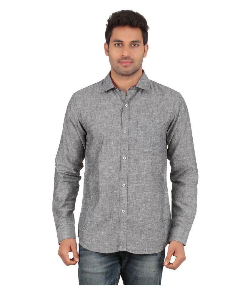 All Times Grey Casuals Regular Fit Shirt