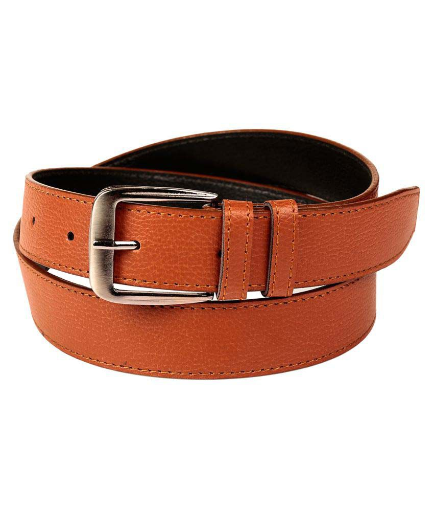Fedrigo Tan Faux Leather Casual Belts